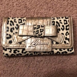 Guess leopard print wallet